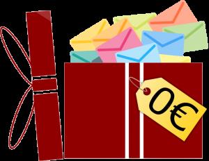 geschenk für 0euro enthält Briefe