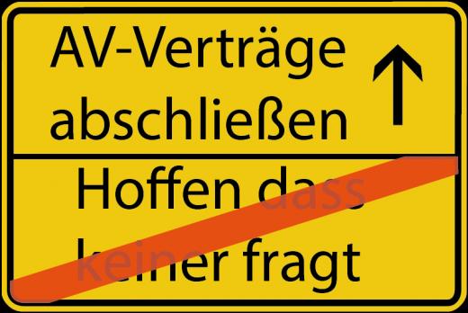Ortsausgangsschild AV-Vertrag DS-GVO